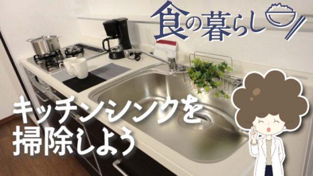 キッチンシンクの掃除で家族の健康を守る!キレイなキッチンを保つコツ